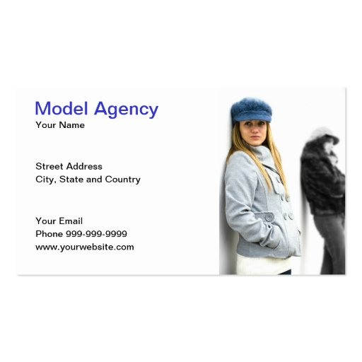 model agency double sided standard business cards pack of 100 zazzle. Black Bedroom Furniture Sets. Home Design Ideas