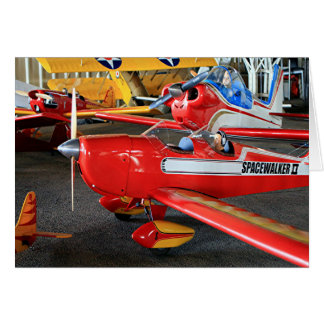 Model aircraft card