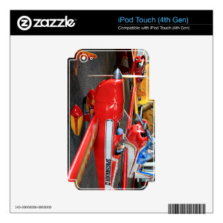 Model aircraft skins for iPod touch 4G