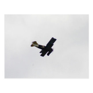 Model Biplane In Flight Postcard