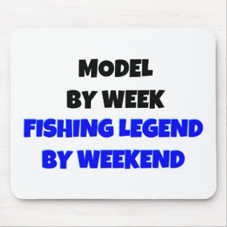 Model by Week Fishing Legend By Weekend Mouse Pad