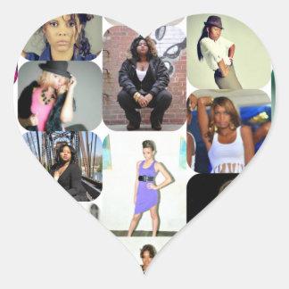 Model Dreams12 LLC Aspiring Supporters Item Heart Sticker