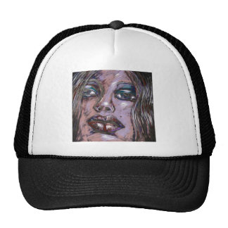model face trucker hat