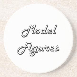 Model Figures Classic Retro Design Drink Coasters