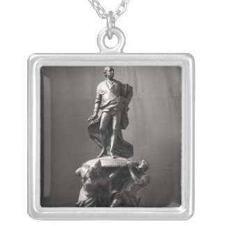 Model for the monument of Louis XV Silver Plated Necklace