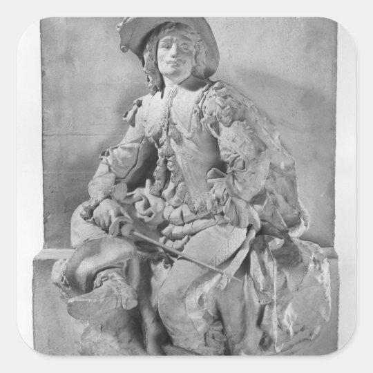 Model for the Monument to Alexandre Dumas Pere Square Sticker