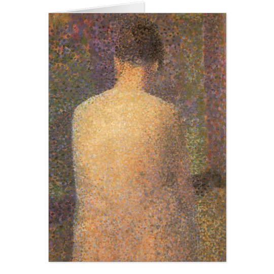 Model From Behind by Georges Seurat, Vintage Art Card