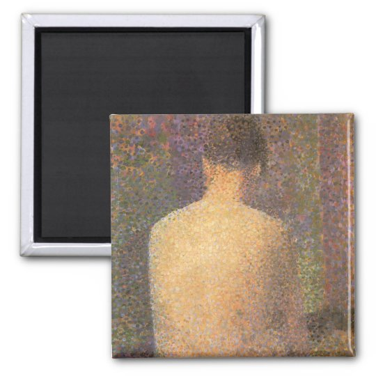 Model From Behind by Georges Seurat, Vintage Art Magnet