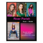 """Model Headshot Comp Cards Template 8.5"""" X 11"""" Flyer"""