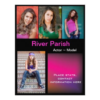 "Model Headshot Comp Cards Template 8.5"" X 11"" Flyer"