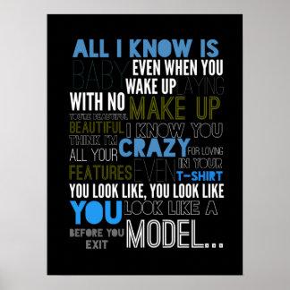 Model Lyric Poster