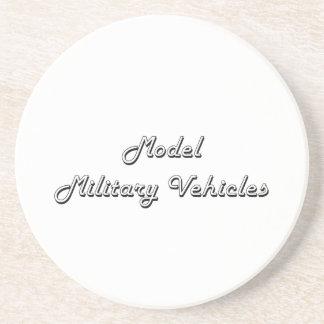 Model Military Vehicles Classic Retro Design Drink Coasters