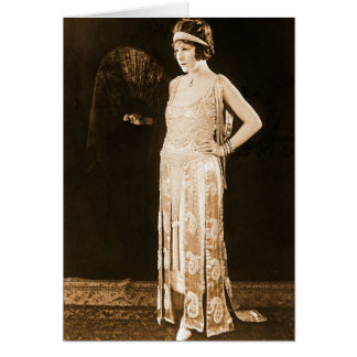 Model Norma Talmadge 1920 Greeting Card
