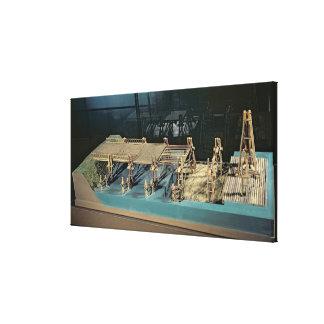 Model of a bridge over the Rhine Canvas Print