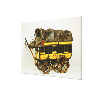 Model of a forty seat omnibus canvas print