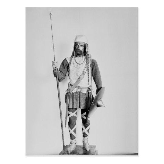 Model of a Frankish warrior Postcard