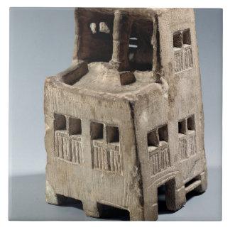 Model of a house (limestone) ceramic tile