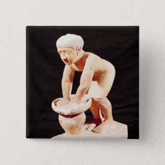 Model of a man making beer, from Saqqara Button