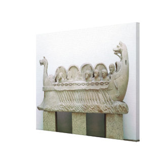Model of a ship transporting wine on the gallery wrap canvas