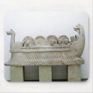 Model of a ship transporting wine on the mouse pad