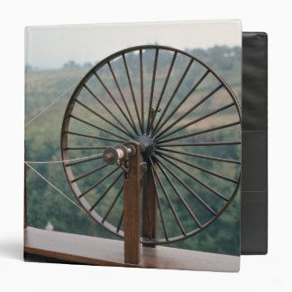 Model of a spinning machine 3 ring binder