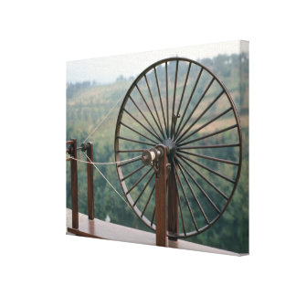 Model of a spinning machine canvas print