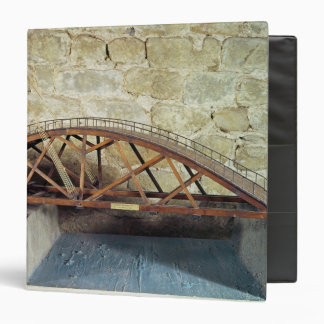 Model of a swing bridge 3 ring binders