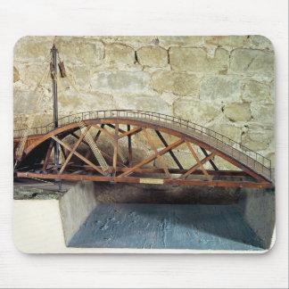 Model of a swing bridge mouse pad