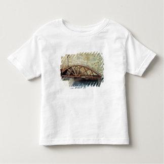 Model of a swing bridge toddler t-shirt
