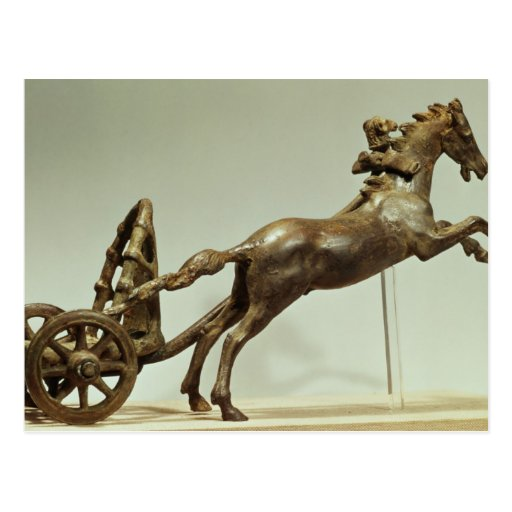 Model of a two horse chariot post cards