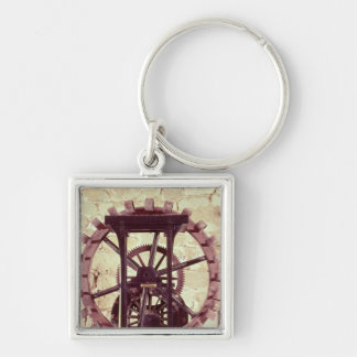 Model of a water wheel key chains