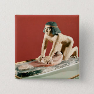 Model of a woman grinding grain, Old Kingdom Pinback Button