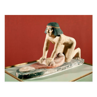 Model of a woman grinding grain, Old Kingdom Postcard