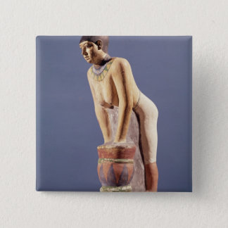 Model of a woman making beer, Old Kingdom Pinback Button