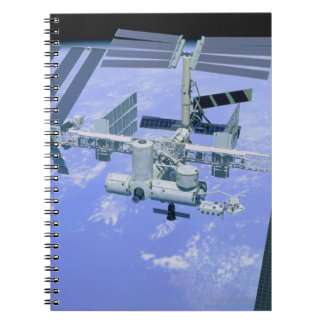 Model of an International Space Station Spiral Note Book