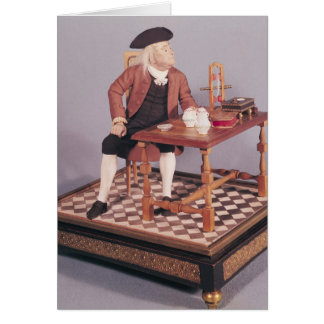 Model of Benjamin Franklin  at his table Card