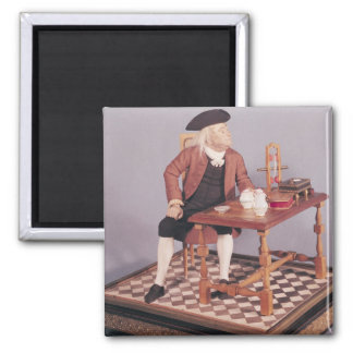 Model of Benjamin Franklin  at his table Magnet