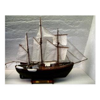 Model of Fram, the ship used by  Nansen Postcard