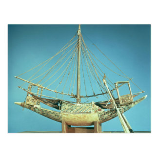 Model of one of the pharaoh's boats postcard