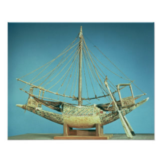 Model of one of the pharaoh's boats poster