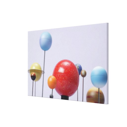 Model of planets canvas prints