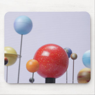 Model of planets mouse pad
