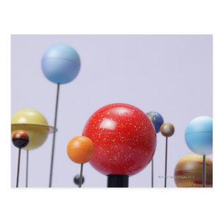 Model of planets postcard
