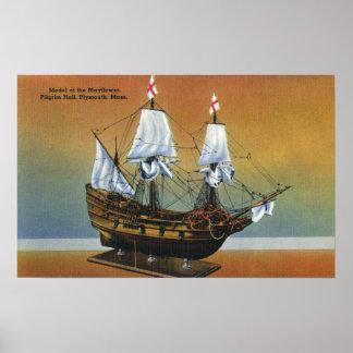 Model of the Mayflower in Pilgrim Hall View Print
