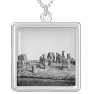 Model of the 'Sit Shamsi' ceremony Square Pendant Necklace