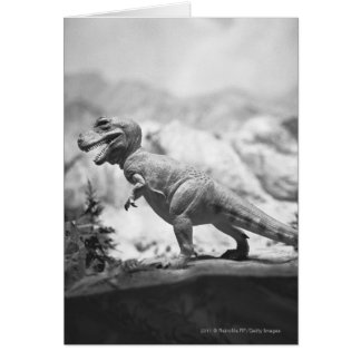 Model of tyrannosaurus rex B&W Greeting Card