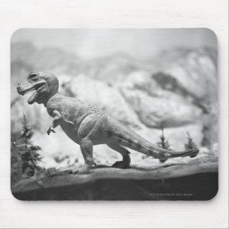 Model of tyrannosaurus rex B&W Mouse Pad