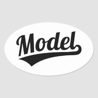 Model Oval Sticker