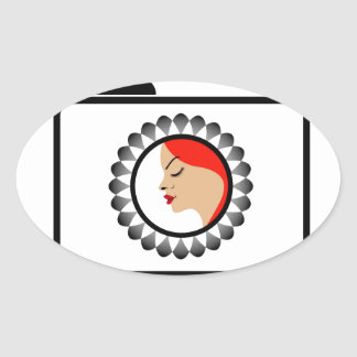 Model photo shoot- Fashion photography Oval Sticker