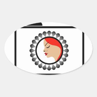 Model photo shoot- Fashion photography Oval Sticker